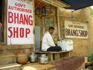 Government authorised bhang shop in Varanasi