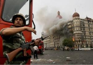 Smoke coming out of Taj hotel