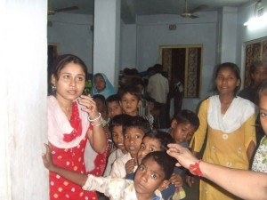 Children of sex workers at Durbar's office