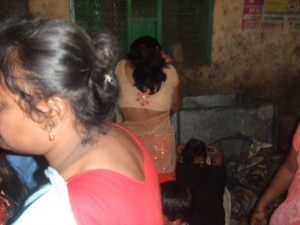 sex workers hiding their face from camera