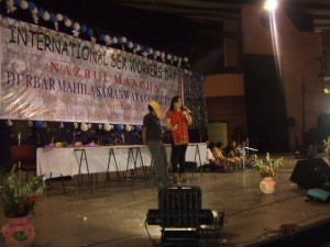I and Seranna on the stage