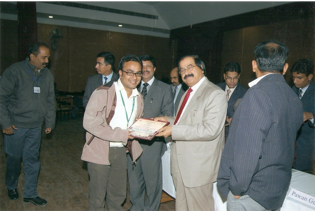 I, receiving the certificate