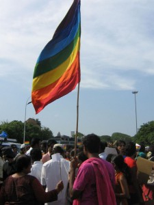 Rainbow flag of Chennai Pride