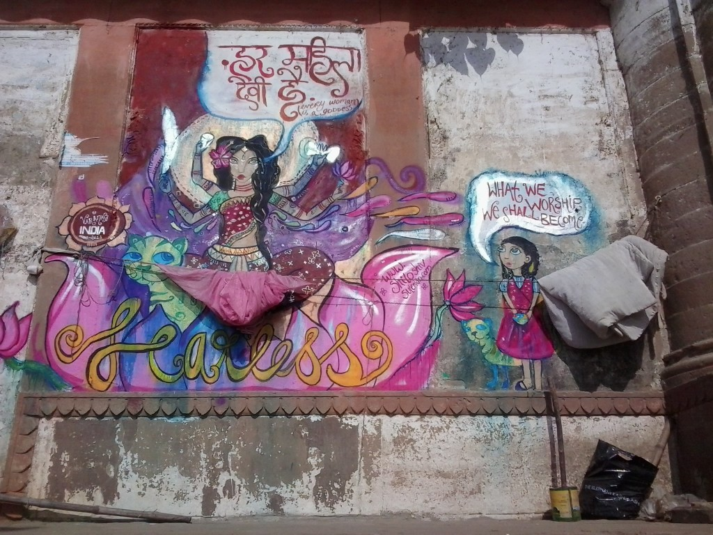 A painting at Assi ghat