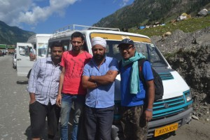 Viccky, Chintu, Driver and I (Left to right)